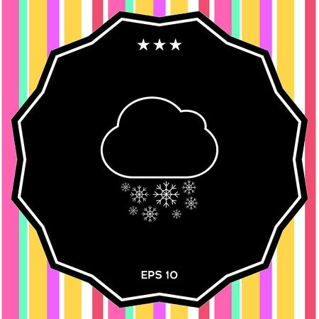 Cloud snow line icon. Element for your design
