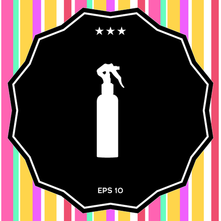Spray Bottle silhouette . Signs and symbols - graphic elements for your design