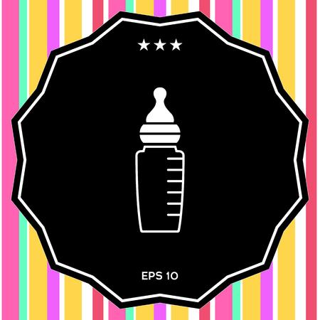 Baby feeding bottle icon Stock Photo