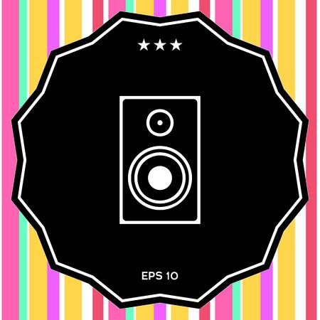 Audio speaker icon. Element for your design