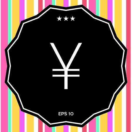 Yen symbol icon . Signs and symbols - graphic elements for your design