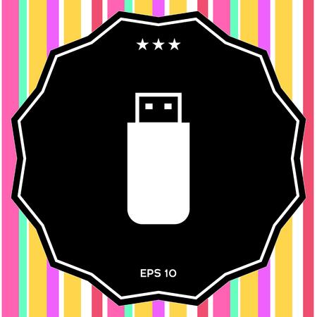 USB flash memory drive icon