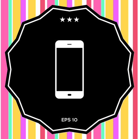 Business Phone with blank screen. Element for your design