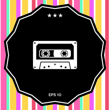 Audio Cassette icon. Element for your design
