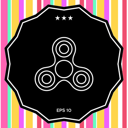 Tri Spinner icon . Signs and symbols - graphic elements for your design Illustration