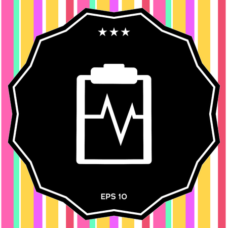 Electrocardiogram icon. Element for your design