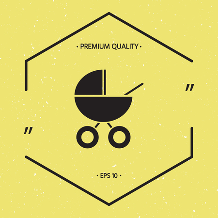 Baby carriage icon Illustration