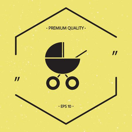 Baby carriage icon Vectores