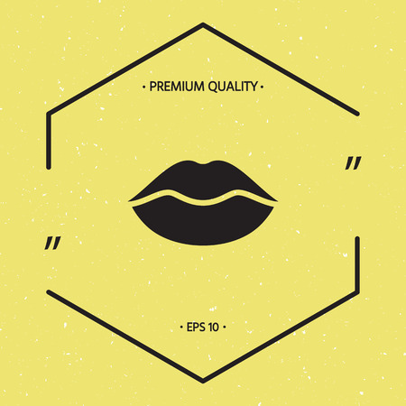 Lips symbol icon