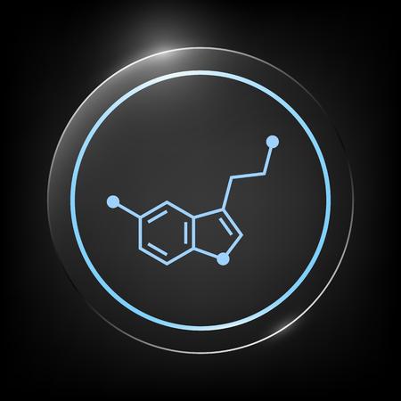 Formula icon. Serotonin