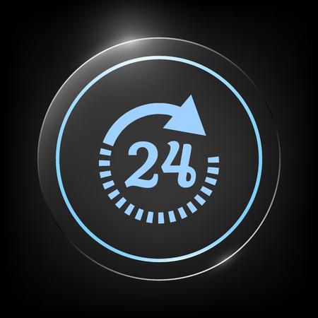 Open around the clock symbol icon. Opening hours icon Stock Illustratie