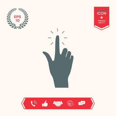 Hand click icon