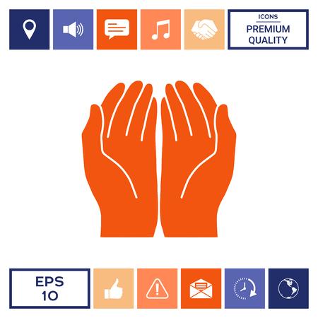 Open hands icon Archivio Fotografico - 101377420