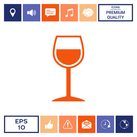 Wineglass symbol icon