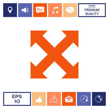 Extend, resize, enlarge icon Illustration