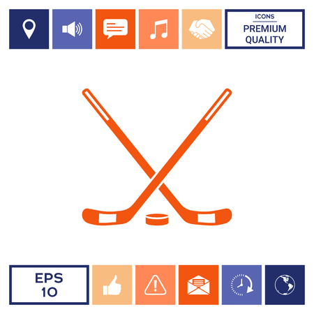 Hockey icon symbol