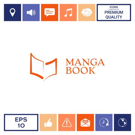Elegant logo with book symbol like brush stroke