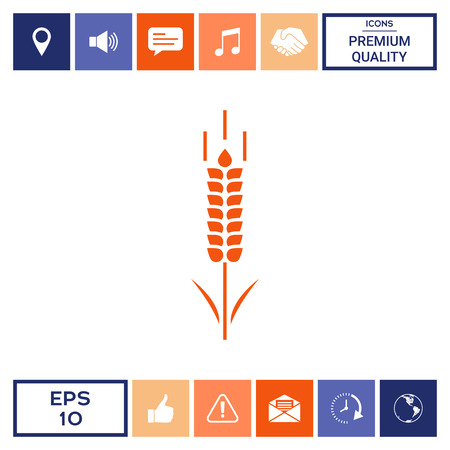 Wheat or rye spikelet symbol