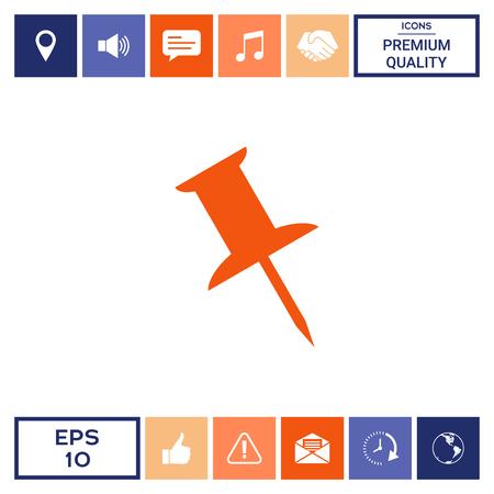 Drawing pin icon Stock Photo