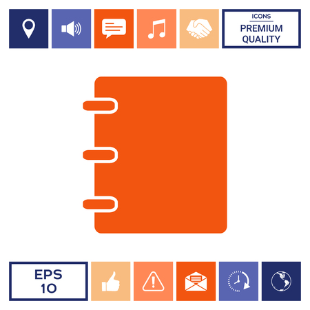 Notebook, address, phone book icon with blank cover Illustration