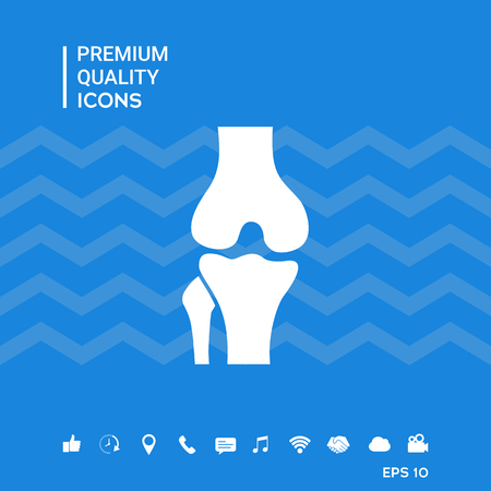 Knee joint icon