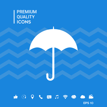 Umbrella icon symbol