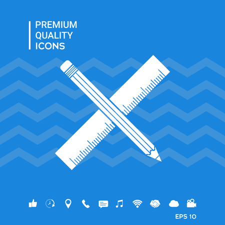 Pencil and ruler icon.