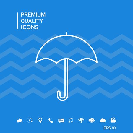 Umbrella line icon Vettoriali