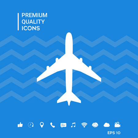 Airplane icon symbol