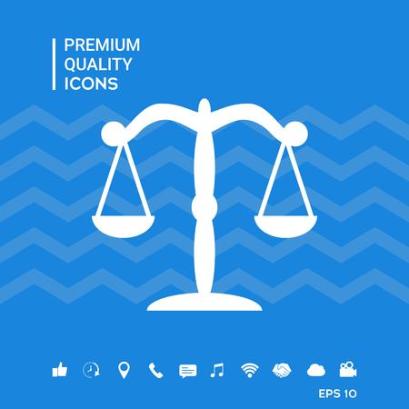 Scales icon symbol