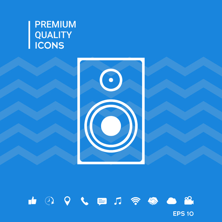 Audio speaker icon Ilustrace