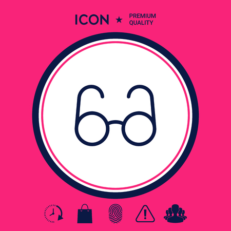 Glasses symbol - search icon