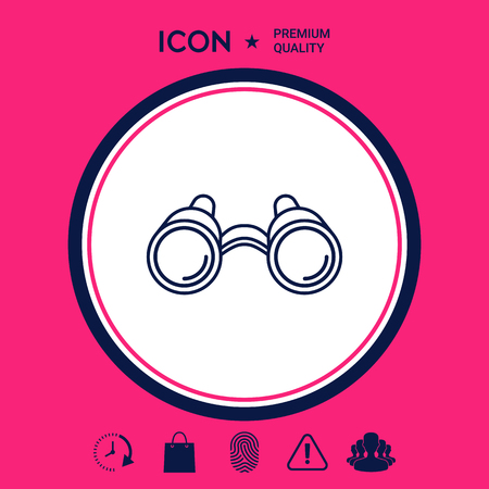 Binoculars line icon Stock Illustratie