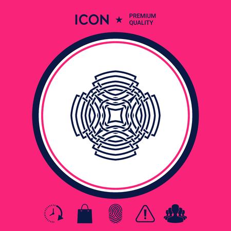 Geometrisch Arabisch patroon. Logo-element voor uw ontwerp
