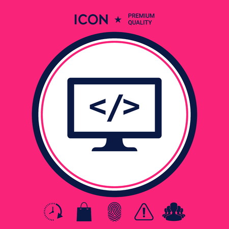 Coding symbol icon