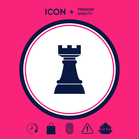 Chess Rook. Strategy icon