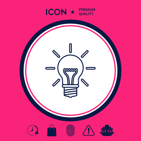 Light bulb - new ideas. Line icon