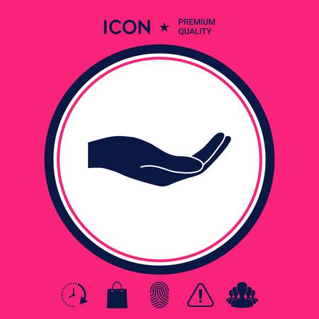 Open hand icon 向量圖像