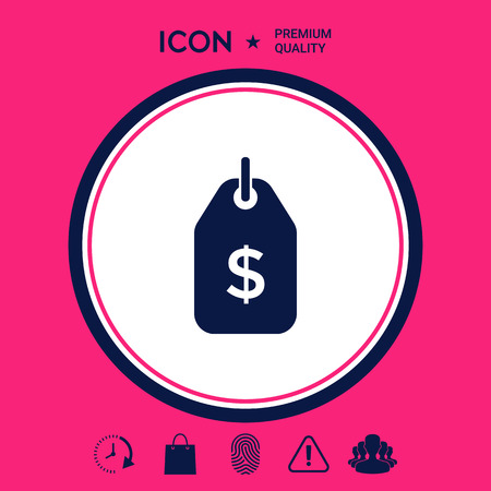 Tag with dollar symbol. Price tag icon for download