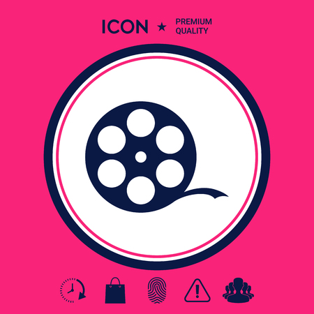 Reel film symbol Illustration