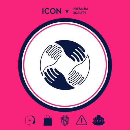 Teamwork Hands. Human connection Logo