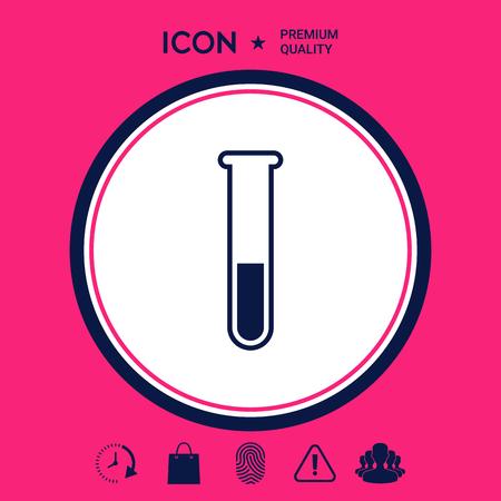 Test-tube icon symbol