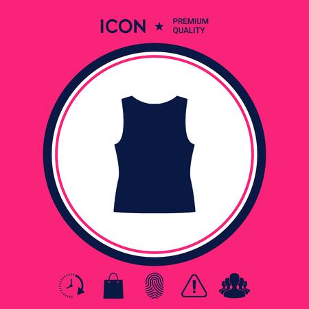 Women T-shirts, the silhouette. Menu item in the web design