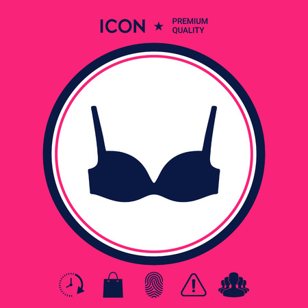 Woman underwear, the silhouette. Menu item in the web design