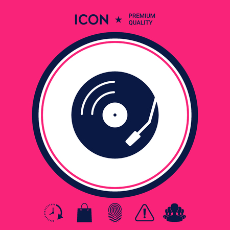 Vinyl record turntable icon