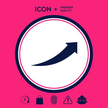 Arrow icon - up  イラスト・ベクター素材