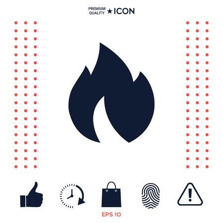 Fire, flame icon Stock Illustratie