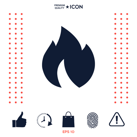 Fire, flame icon Ilustrace