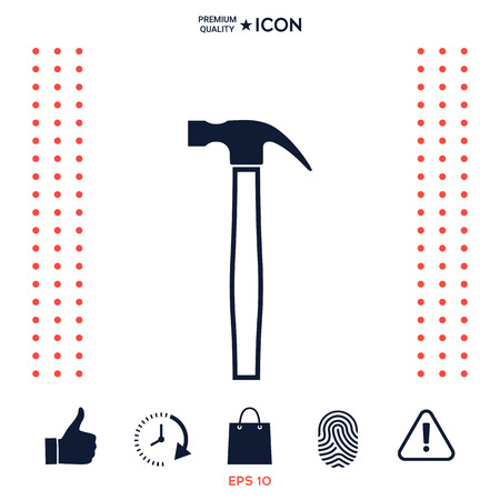 Hammer icon symbol Stock Illustratie