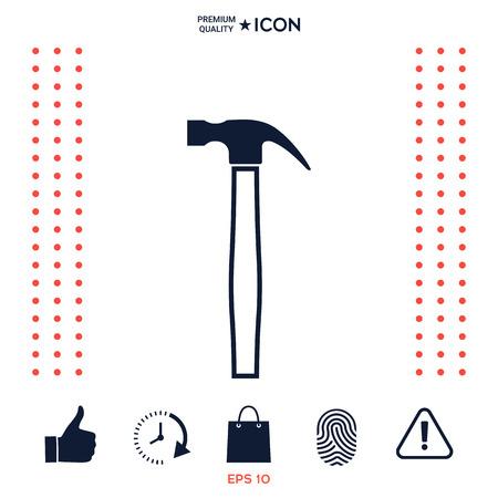 Hammer icon symbol Vectores